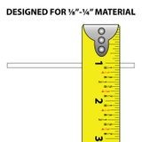 1/8in - 1/4in | Rigid PVC/Dual Durometer U Channel Moulding With Adhesive | 8ft Length