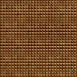 FlexLam 3D Wall Panel | 4ft W x 10ft H | Chocolate Square Pattern | Muted Gold Finish