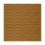 Tin Plated Stamped Steel Ceiling Tile | Nail Up/Glue Up Ceiling Tile | 2ft Sq | Metallic Brass Finish