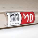 1-1/4in x 1.330in H | Clear Styrolux | Gondola Ticket Moulding | 8ft Long