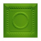 Tin Plated Stamped Steel Ceiling Tile | Lay In | 2ft Sq | Kawasaki Green Finish