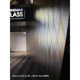 10' Wide x 4' Long Hammered Pattern Argent Gold Finish Thermoplastic Flexlam Wall Panel