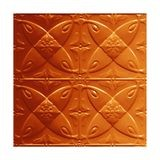 Tin Plated Stamped Steel Ceiling Tile | Lay In | 2ft Sq | Lincoln Copper Finish