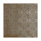 Tin Plated Stamped Steel Ceiling Tile | Nail Up/Glue Up Ceiling Tile | 2ft Sq | Copper Verde Finish