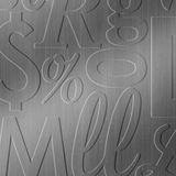 10' Wide x 4' Long Alphabet Soup Pattern Brushed Stainless Finish Thermoplastic Flexlam Wall Panel