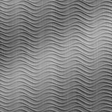 10' Wide x 4' Long Wavation Pattern Brushed Stainless Finish Thermoplastic Flexlam Wall Panel