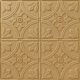 10' Wide x 4' Long Boston Pattern Argent Gold Finish Thermoplastic Flexlam Wall Panel