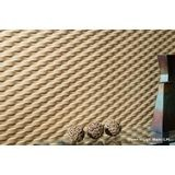 FlexLam 3D Wall Panel | 4ft W x 10ft H | Weave Pattern | Brushed Stainless Finish