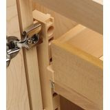 "1"" Wide Maple Quick Tray Support Set"