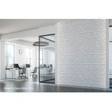FlexLam 3D Wall Panel | 4ft W x 10ft H | Vista Pattern | Argent Silver Finish