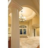 "10' High x 8"" Diameter Paint Grade Wood Non-Tapered Fluted Colonial Column with Polyurethane Capital and Base"