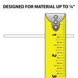 1/4in | White Rigid Styrene | Clamp Moulding | 8ft Length