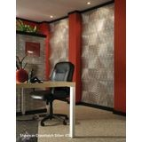 10' Wide x 4' Long Curvation Pattern Brushed Nickel Finish Thermoplastic Flexlam Wall Panel