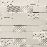 FlexLam 3D Wall Panel | 4ft W x 10ft H | Versa-Tile Pattern | Winter White Finish