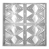 Tin Plated Stamped Steel Ceiling Tile | Nail Up/Glue Up Ceiling Tile | 2ft Sq | Chrome Finish