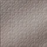 FlexLam 3D Wall Panel | 4ft W x 10ft H | Savannah Pattern | Brushed Nickel Finish