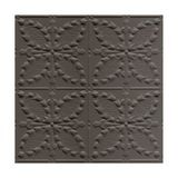 Tin Plated Stamped Steel Ceiling Tile | Nail Up/Glue Up Ceiling Tile | 2ft Sq | Gunmetal Finish