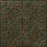 FlexLam 3D Wall Panel | 4ft W x 10ft H | Boston Pattern | Copper Fantasy Finish