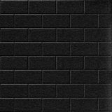 10' Wide x 4' Long Subway Tile Pattern Eccoflex Black Finish Thermoplastic Flexlam Wall Panel