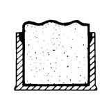 "1"" Square White Low Density Polyethylene Outside End Cap for Tubing, Iron Pipe and Wire"
