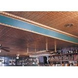 Tin Plated Stamped Steel Cornice | 3-1/2in H x 4-1/2in W x 3-1/2in Proj | Brass Finish | 4ft Long