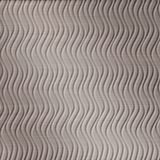 FlexLam 3D Wall Panel | 4ft W x 10ft H | Wavation Pattern | Brushed Nickel Vertical Finish