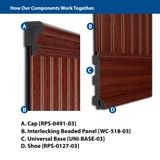 1-3/4in H x 1in Proj | Cherry/Mahogany High Impact Polystyrene | Cap and Backband Moulding | 8ft Long