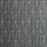 10' Wide x 4' Long Beehive Pattern Crosshatch Silver Finish Thermoplastic FlexLam Wall Panel