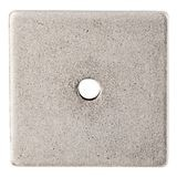 "Square Backplate 1 1/4"" Dia. Antique Pewter"