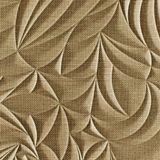 10' Wide x 4' Long Sculpted Petals Pattern Linen Beige Finish Thermoplastic Flexlam Wall Panel