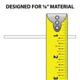 1/8 in |  Rigid PVC/Dual Durometer | Divider Moulding | 8ft Length
