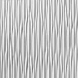 10' Wide x 4' Long Sahara Pattern White Vertical Finish Thermoplastic Flexlam Wall Panel