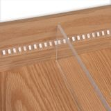 60in Clear | Standard Baby Binning Strip | with Adhesive for 1/4in Divider