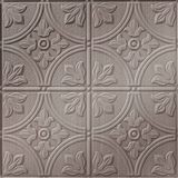 10' Wide x 4' Long Boston Pattern Brushed Nickel Finish Thermoplastic Flexlam Wall Panel