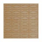 Tin Plated Stamped Steel Ceiling Tile | Nail Up/Glue Up Ceiling Tile | 2ft Sq | Concord Ivory Finish