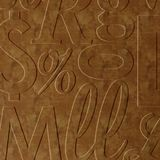 10' Wide x 4' Long Alphabet Soup Pattern Muted Gold Finish Thermoplastic Flexlam Wall Panel