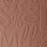 10' Wide x 4' Long Alphabet Soup Pattern Argent Copper Finish Thermoplastic Flexlam Wall Panel