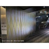 10' Wide x 4' Long Hammered Pattern Crosshatch Silver Finish Thermoplastic Flexlam Wall Panel