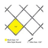 Round Flat Crimp | Woven Wire Grill