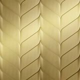 10' Wide x 4' Long Ariel Pattern Mirror Gold Finish Thermoplastic FlexLam Wall Panel