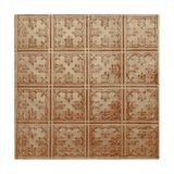 Tin Plated Stamped Steel Ceiling Tile | Lay In | 2ft Sq | Monterey Finish