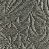 10' Wide x 4' Long Sculpted Petals Pattern Galvanized Finish Thermoplastic Flexlam Wall Panel