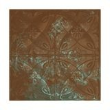 Tin Plated Stamped Steel Ceiling Tile | Nail Up/Glue Up Ceiling Tile | 2ft Sq | Antique Copper Patina Finish