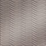 FlexLam 3D Wall Panel | 4ft W x 10ft H | Wavation Pattern | Brushed Nickel Finish