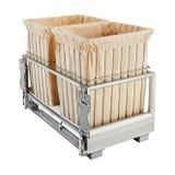 White Double Wire Hamper With Rev A Motion