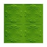 Tin Plated Stamped Steel Ceiling Tile | Nail Up/Glue Up Ceiling Tile | 2ft Sq | Kawasaki Green Finish