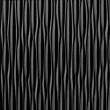 10' Wide x 4' Long Sahara Pattern Eccoflex Black Vertical Finish Thermoplastic Flexlam Wall Panel