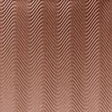 10' Wide x 4' Long Curves Pattern Argent Copper Finish Thermoplastic FlexLam Wall Panel