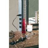 "12"" Long Bronze Angled Power Strip with Receptacles, Right Wire Entry"