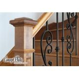 "Powder Coated Baluster Oil Rubbed Copper 1/2"" Square x 44"" High"